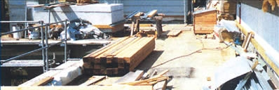 Het platte dak als opslagplaats