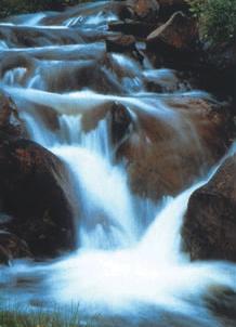 Kunstmatig afgedichte waterval