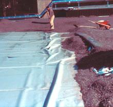 Materiaalophoping onder grind